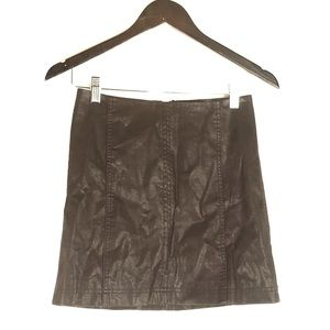 Free People Faux Leather Sienna Mini Skirt
